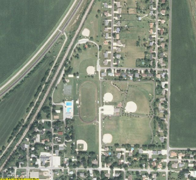 McLean County, IL aerial photography detail