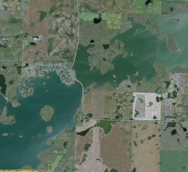 McLean County, North Dakota aerial photography