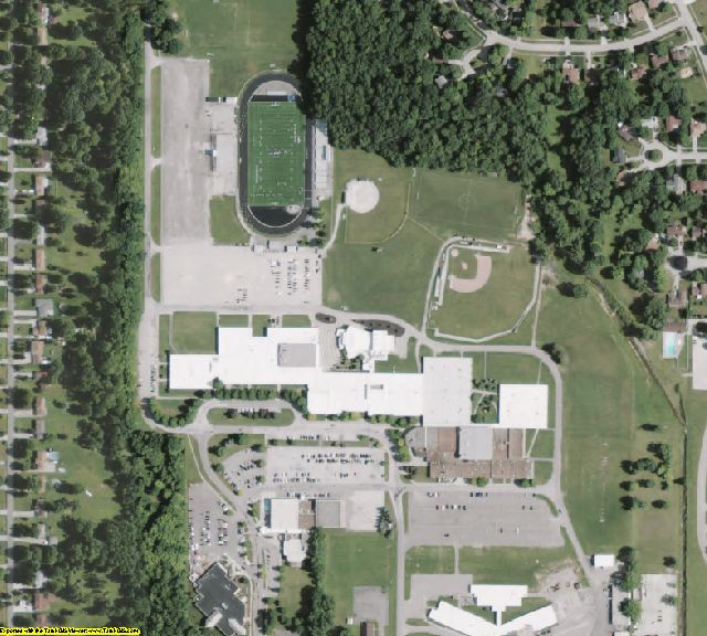 Medina County, OH aerial photography detail