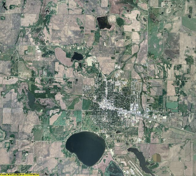 Meeker County, Minnesota aerial photography