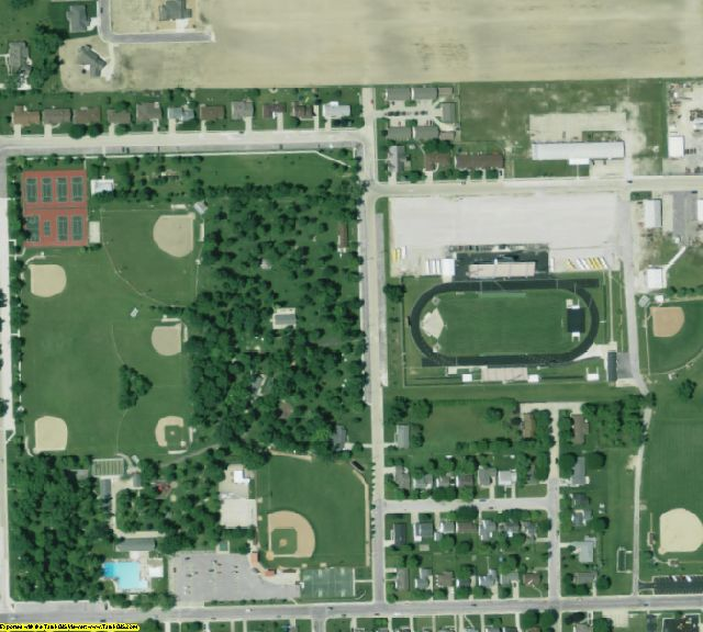 Mercer County, OH aerial photography detail