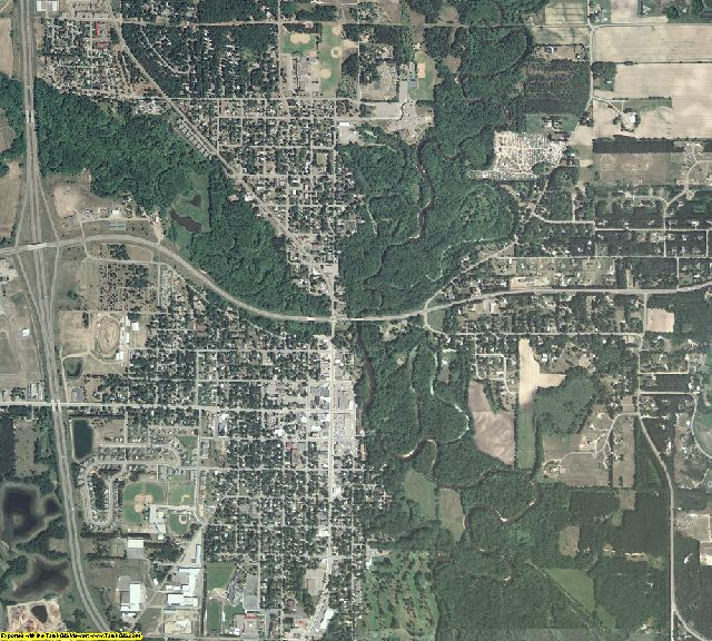 Mille Lacs County, Minnesota aerial photography