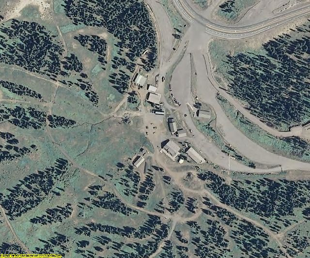 Mineral County, CO aerial photography detail