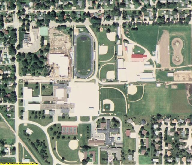 Mitchell County, IA aerial photography detail