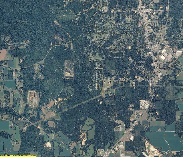 Monroe County, Alabama aerial photography