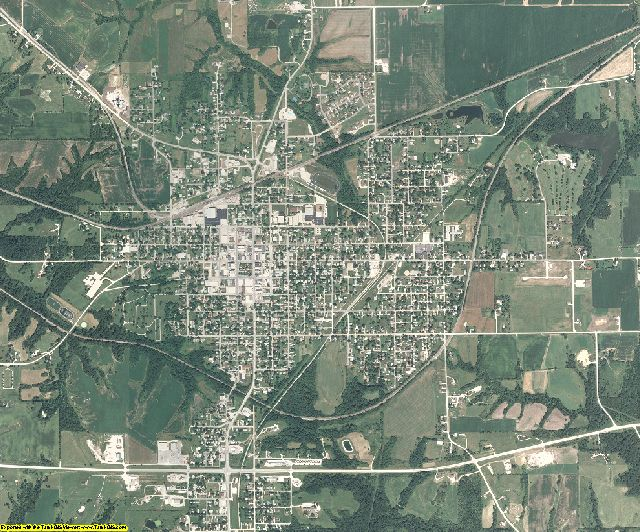 Monroe County, Iowa aerial photography