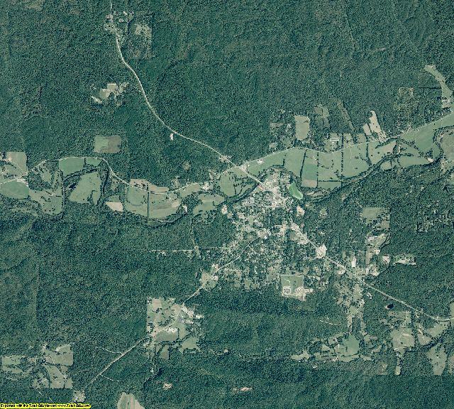 Montgomery County, Arkansas aerial photography