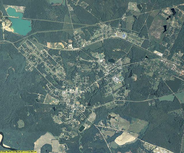 Montgomery County, Georgia aerial photography