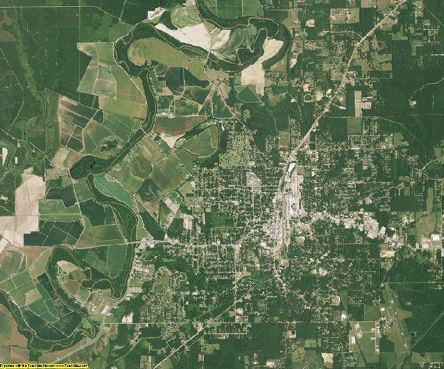 Morehouse County, Louisiana aerial photography