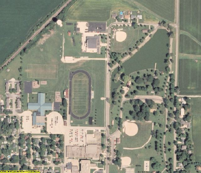 Moultrie County, IL aerial photography detail