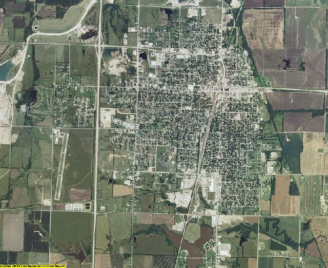 Neosho County, Kansas aerial photography
