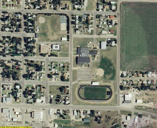 Ness County, KS aerial photography detail