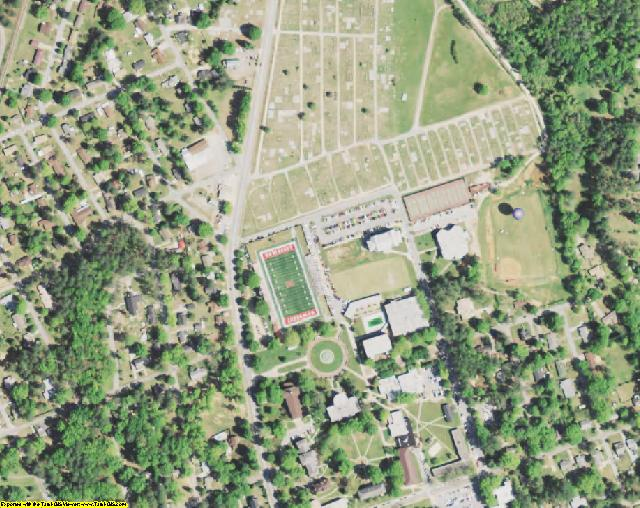 Newberry County, SC aerial photography detail
