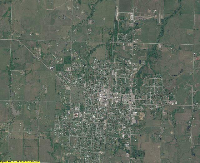 Nowata County, Oklahoma aerial photography