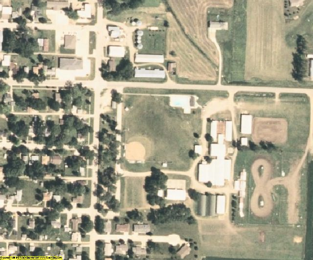 O'Brien County, IA aerial photography detail