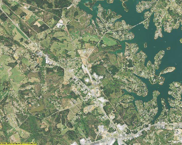 Oconee County, South Carolina aerial photography