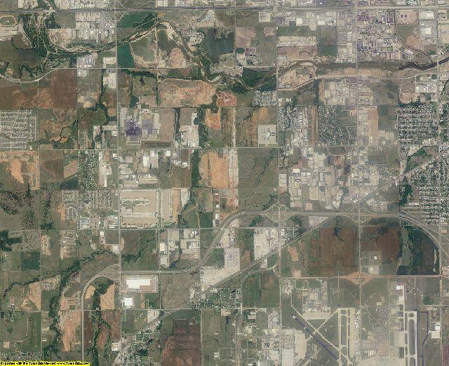 Oklahoma County, Oklahoma aerial photography