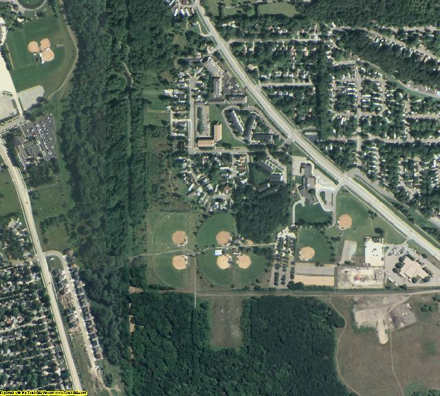 Olmsted County, MN aerial photography detail