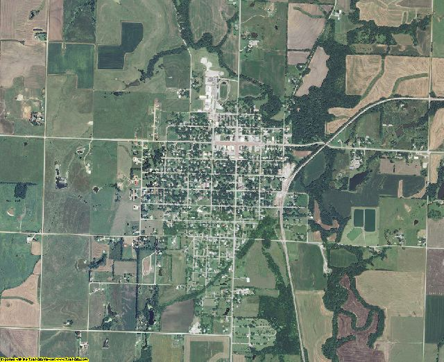 Osage County, Kansas aerial photography