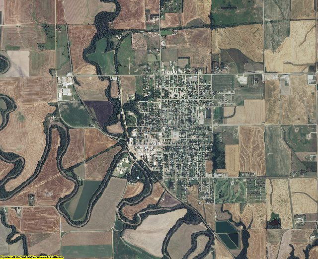 Ottawa County, Kansas aerial photography