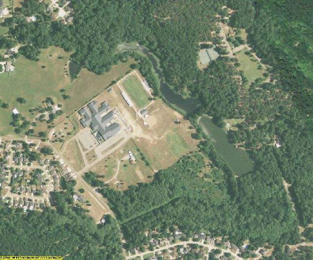 Ouachita County, LA aerial photography detail