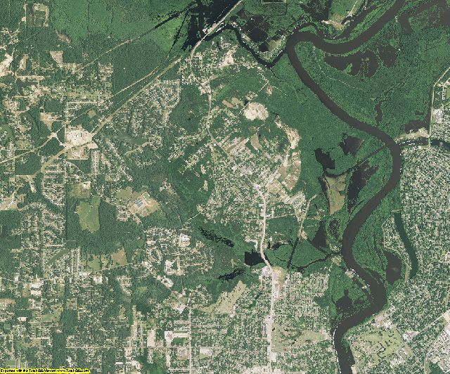 Ouachita County, Louisiana aerial photography