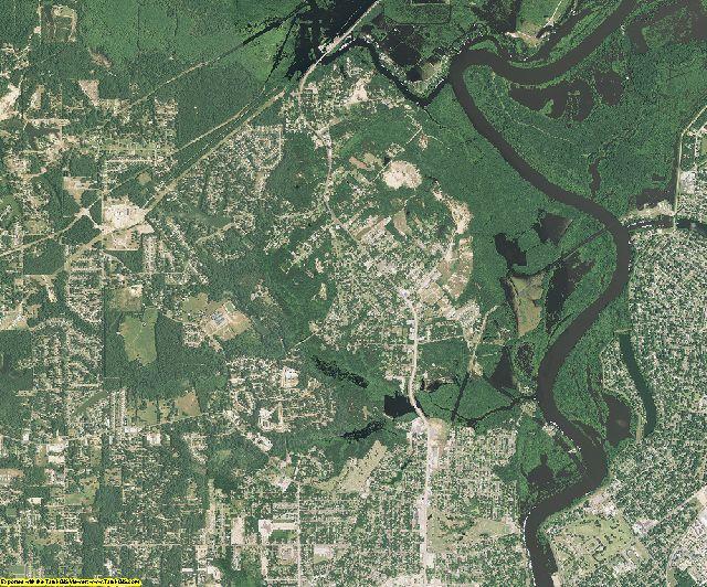Ouachita County, Louisiana aerial photography