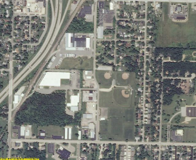 Outagamie County, WI aerial photography detail