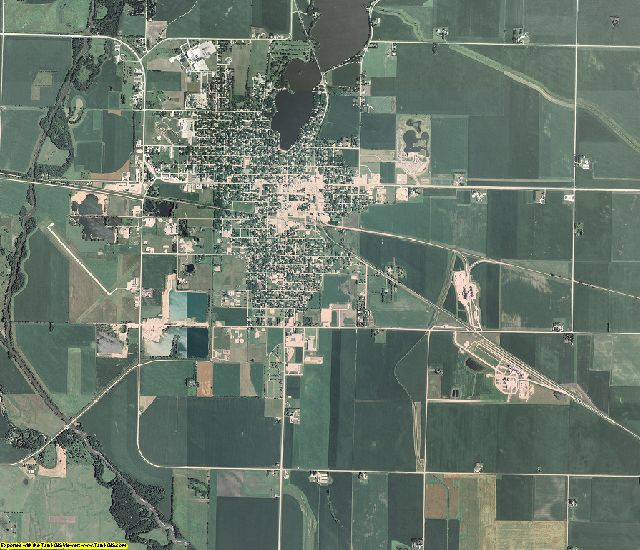 Palo Alto County, Iowa aerial photography