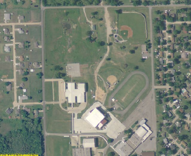 Pawnee County, OK aerial photography detail