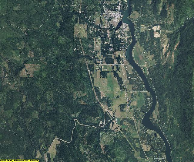Pend Oreille County, Washington aerial photography