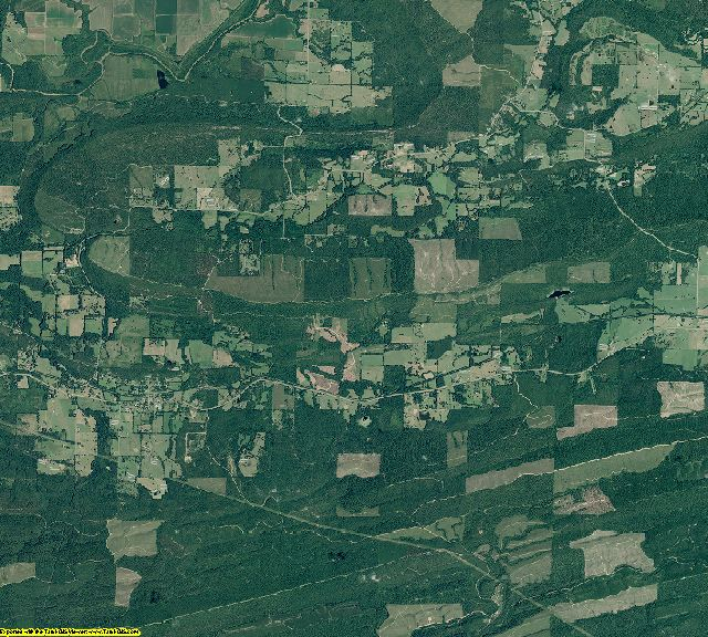 Perry County, Arkansas aerial photography