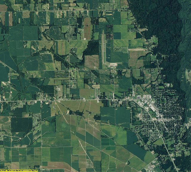 Phillips County, Arkansas aerial photography