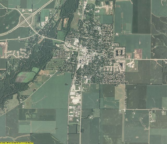 Piatt County, Illinois aerial photography