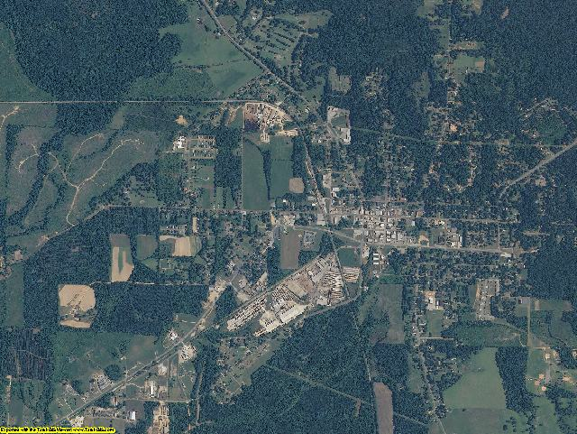 Pickens County, Alabama aerial photography