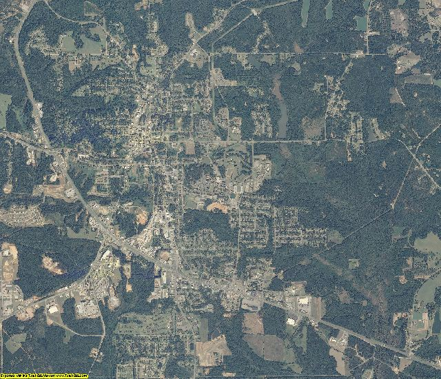 Pike County, Alabama aerial photography