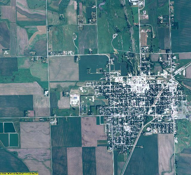 Pipestone County, Minnesota aerial photography