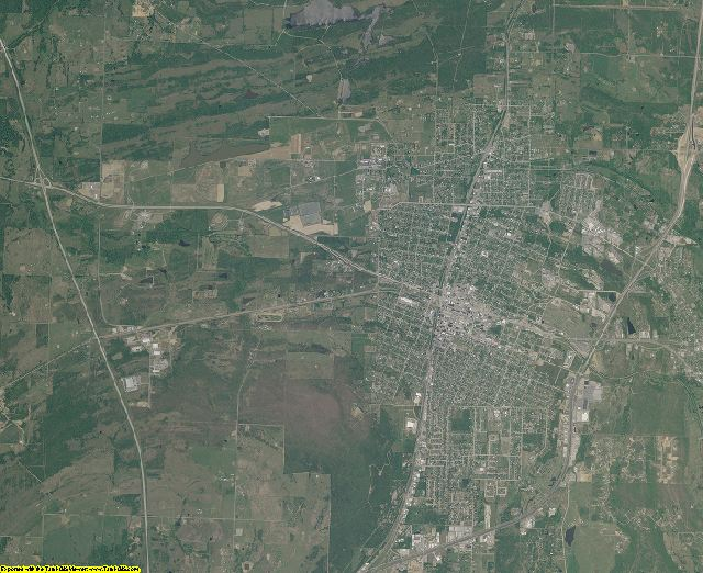 Pittsburg County, Oklahoma aerial photography