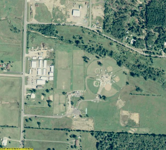 Polk County, AR aerial photography detail