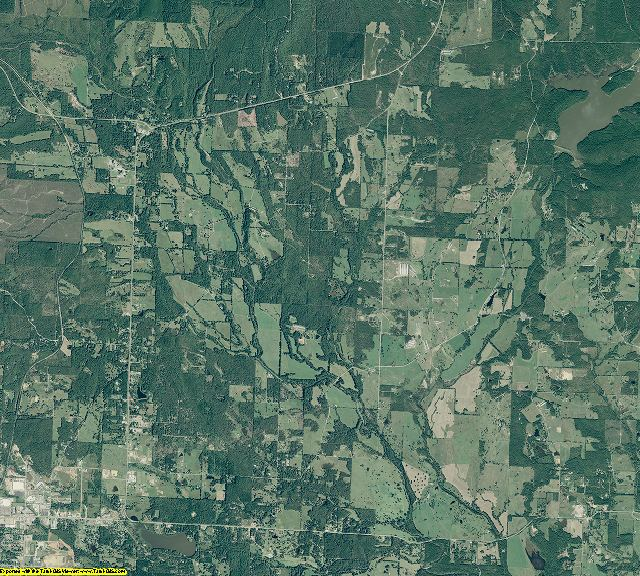 Polk County, Arkansas aerial photography