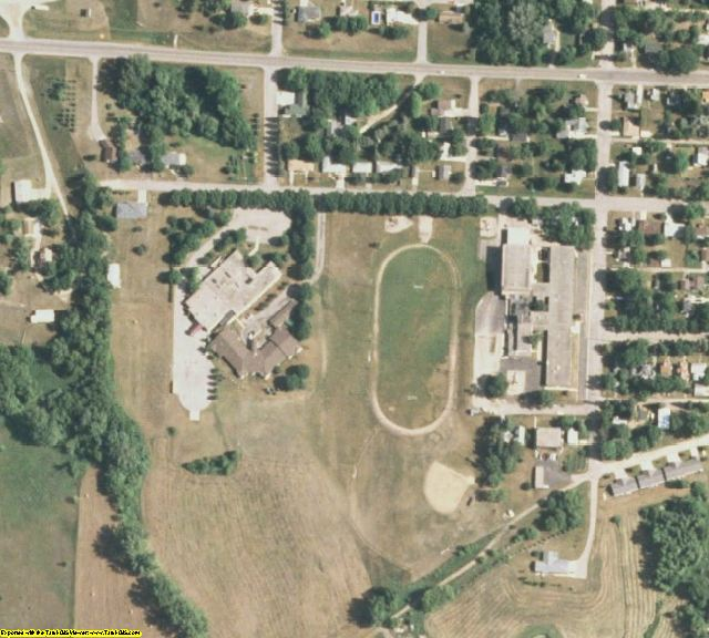Pope County, MN aerial photography detail