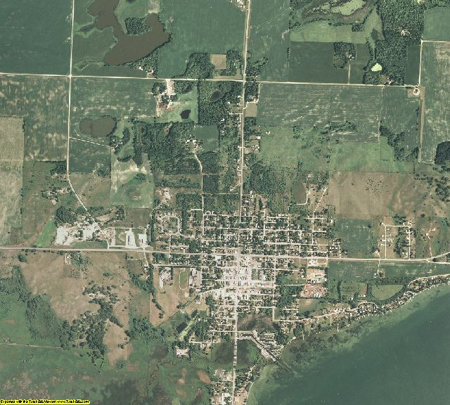 Pope County, Minnesota aerial photography