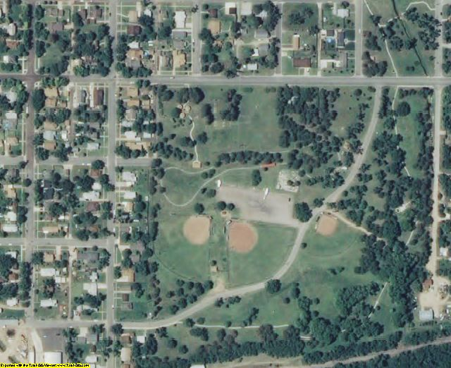 Pratt County, KS aerial photography detail