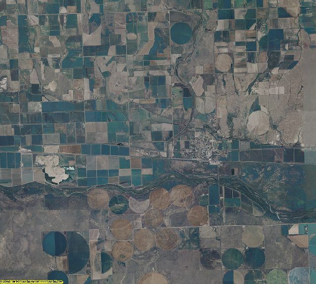 Prowers County, Colorado aerial photography
