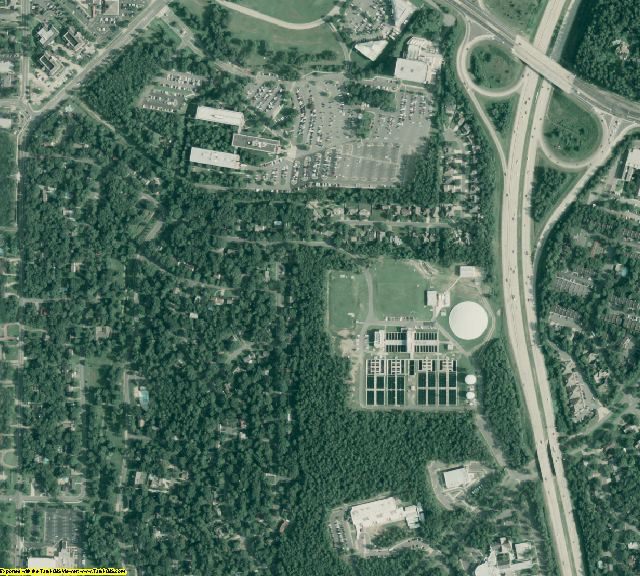Pulaski County, AR aerial photography detail