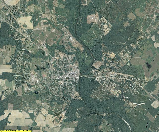 Pulaski County, Georgia aerial photography