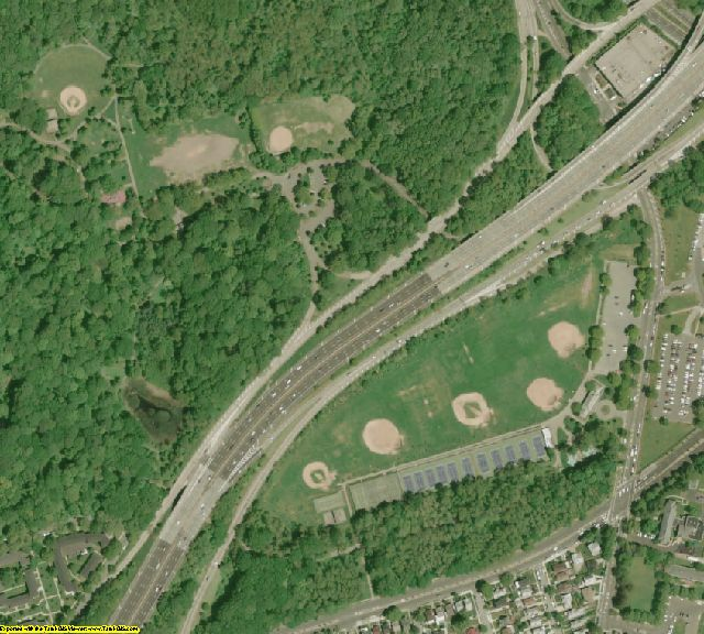 Queens County, NY aerial photography detail