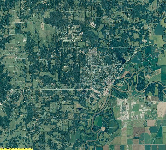 Randolph County, Arkansas aerial photography
