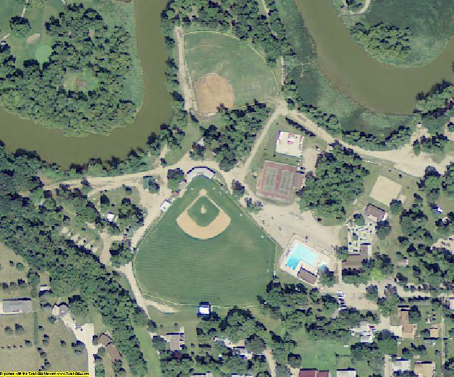 Ransom County, ND aerial photography detail