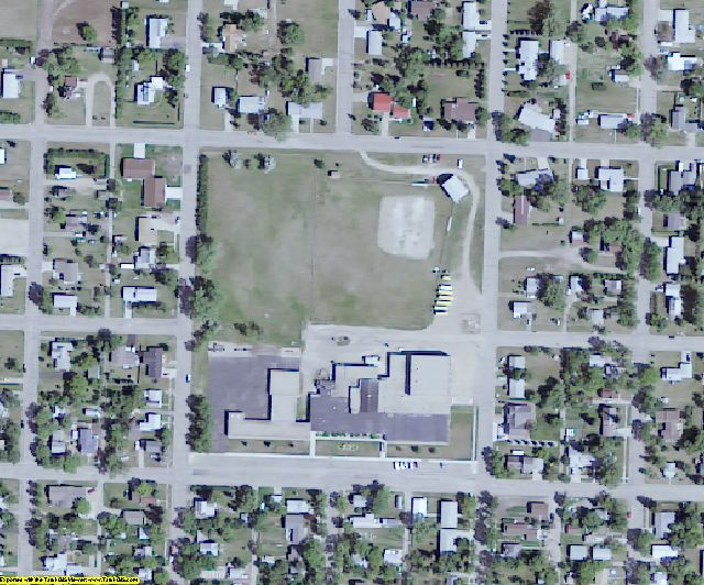 Renville County, ND aerial photography detail